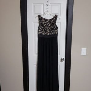 Eliza J black and nude lace top gown size 6
